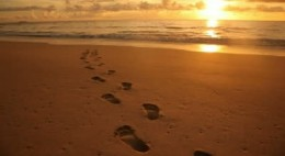 footprints-in-the-sand-wallpaper-sunset-wonderful-nice-for-your-computer