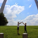 We stopped at the St. Louis Arch on our way to Joplin.