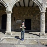 Me in front of Christopher Columbus' family home.